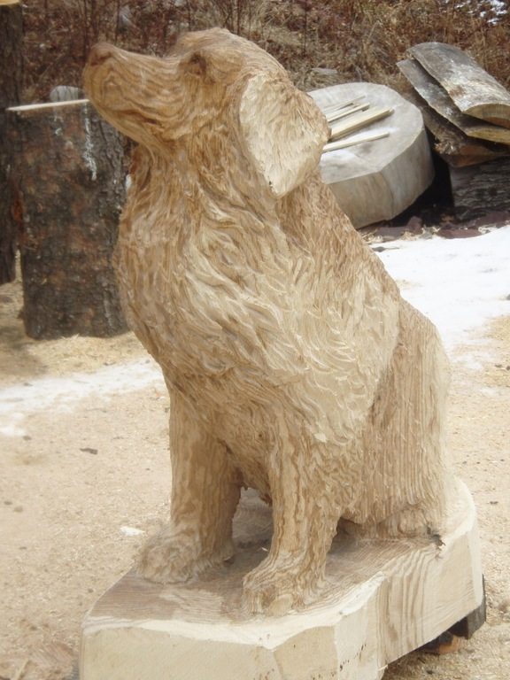 Aya S Dog Carving Dream Wood By Michael Amp Aya Blaine