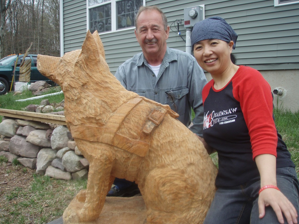German shepherd dog went to home dream wood by michael