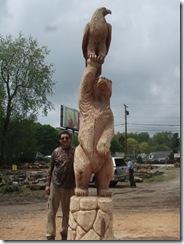 Bear an eagle in Ohio 022