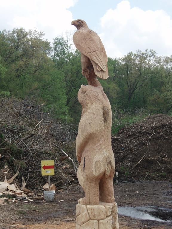Bear and eagle custom order dream wood by michael aya