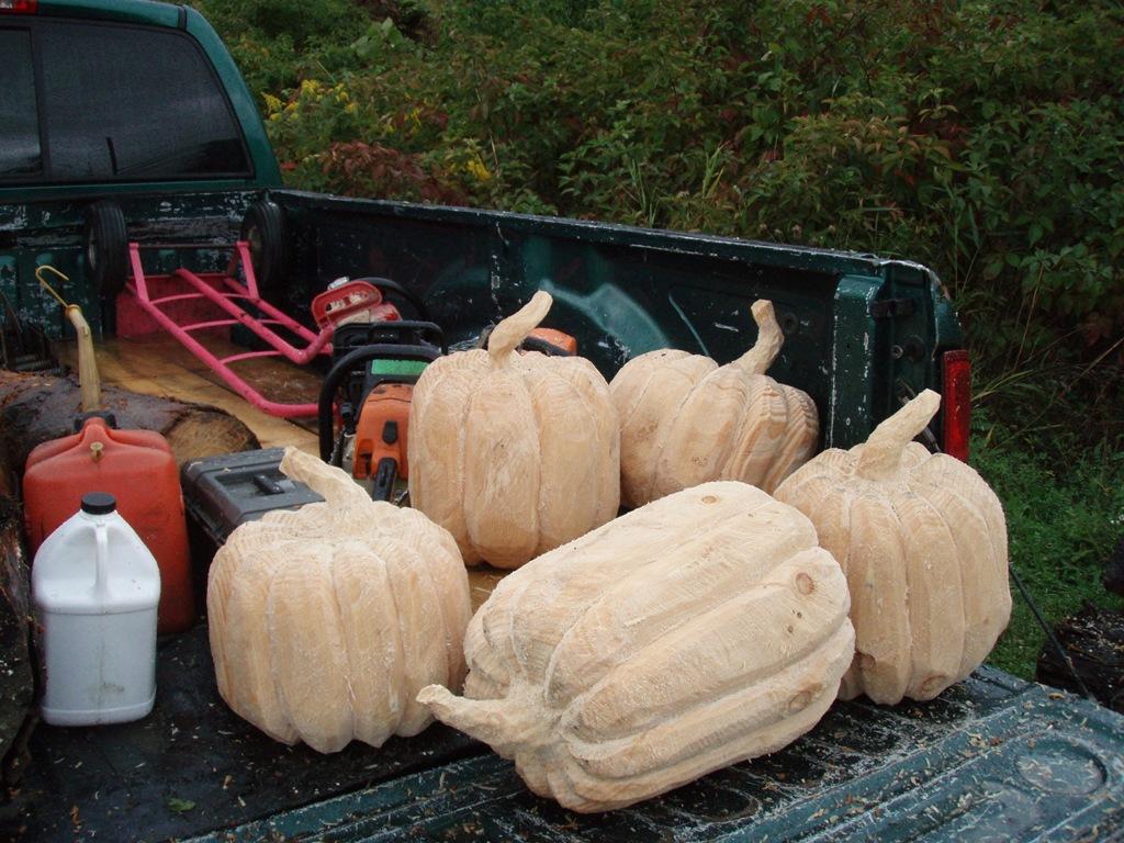 Pumpkins dream wood by michael aya blaine